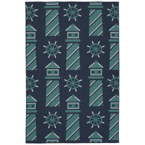 Puerto Blue Rectangular: 3 Ft.6 In. x 5 Ft.6 In. Rug