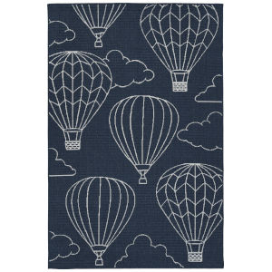 Puerto Para Navy Rectangular: 3 Ft.6 In. x 5 Ft.6 In. Rug
