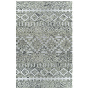 Radiance Gray and Silver 2 Ft. x 3 Ft. Throw Rug