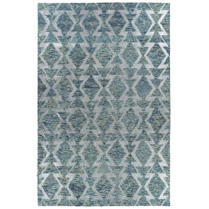 Radiance Blue and Silver 2 Ft. x 3 Ft. Throw Rug
