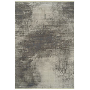 Scottsman Silver Gray Rectangular: 7 Ft.10 In. x 10 Ft.10 In. Rug