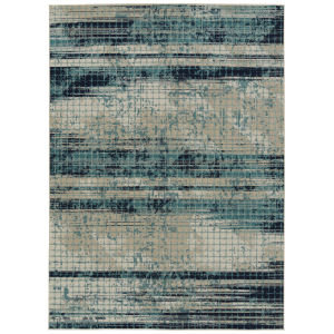 Zuma Beach Blue Wave Rectangular: 5 Ft.3 In. x 7 Ft.3 In. Rug