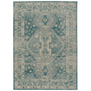 Zuma Beach Turquoise Rectangular: 5 Ft.3 In. x 7 Ft.3 In. Rug
