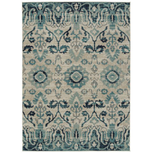 Zuma Beach Blue PatternRectangular: 9 Ft.3 In. x 12 Ft. Rug