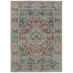 Zuma Beach Brown Multicolor Rectangular: 5 Ft.3 In. x 7 Ft.3 In. Rug