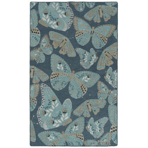 Critter Comforts Blue and Gray 5 Ft. x 8 Ft. Area Rug