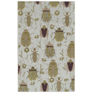 Critter Comforts Gold and White 5 Ft. x 8 Ft. Area Rug