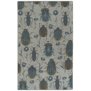 Critter Comforts Blue and Peach 5 Ft. x 8 Ft. Area Rug