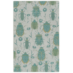 Critter Comforts Turqoise 5 Ft. x 8 Ft. Area Rug