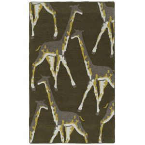 Forever Fauna Green and Gray 5 Ft. x 8 Ft. Area Rug