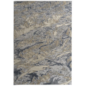 Global Altitude Gray and Beige 7 Ft.10 In. x 10 Ft. Area Rug