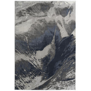 Global Altitude Blue and Gray 9 Ft. 3 In. x 12 Ft. Area Rug