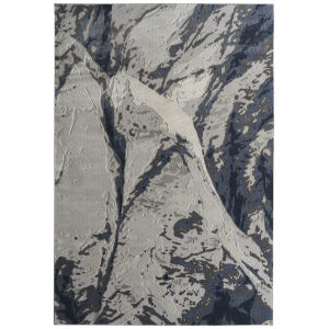 Global Altitude Ivory and Blue 9 Ft. 3 In. x 12 Ft. Area Rug