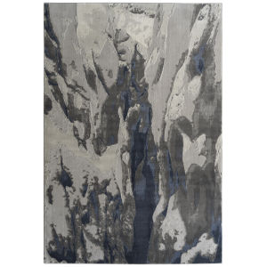 Global Altitude Gray and Blue 9 Ft. 3 In. x 12 Ft. Area Rug