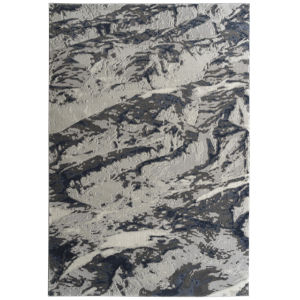 Global Altitude Ivory and Denim 5 Ft. 3 In. x 7 Ft. 3 In. Area Rug