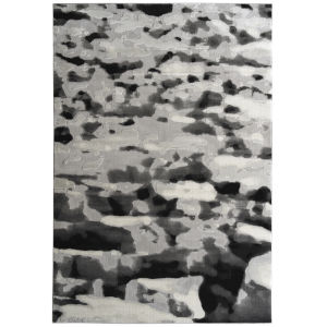 Global Altitude Gray and Black 9 Ft. 3 In. x 12 Ft. Area Rug