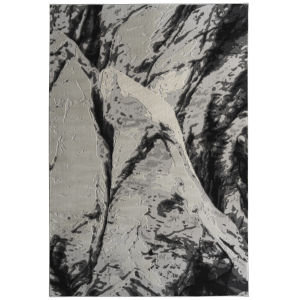 Global Altitude Light Gray and Black 7 Ft.10 In. x 10 Ft. Area Rug