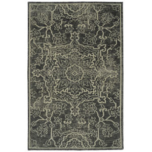 Knotted Earth Charcoal and Ivory 2 Ft. x 3 Ft. Throw Rug