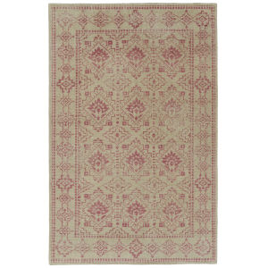 Knotted Earth Pink and Cream 5 Ft. 6 In. x 8 Ft. 6 In. Area Rug