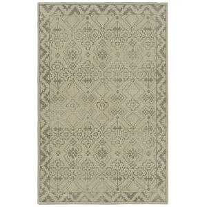 Knotted Earth Ivory and Taupe 2 Ft. x 3 Ft. Throw Rug