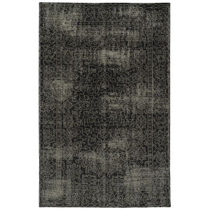 Knotted Earth Black and Ivory 2 Ft. x 3 Ft. Throw Rug
