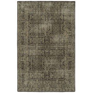 Knotted Earth Brown and Ivory 4 Ft. x 6 Ft. Area Rug
