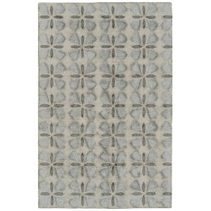Peranakan Tile Gray and Silver 5 Ft. x 8 Ft. Indoor/Outdoor Rug