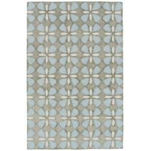 Peranakan Tile Light Blue and Gray 8 Ft. x 10 Ft. 6 In. Indoor/Outdoor Rug