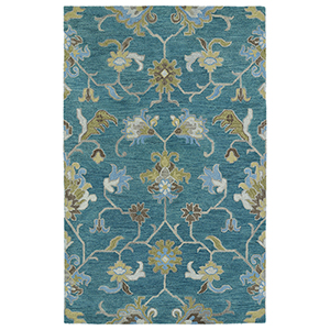 Helena Turquoise Hand Tufted 10Ft. x 14Ft. Rectangle Rug