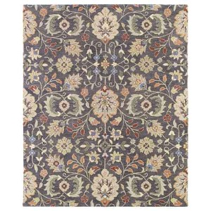 Helena Collection Hera Pewter Rectangular: 5 Ft. x 7 Ft. 9 In. Rug