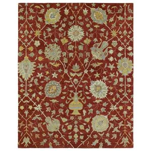 Helena Collection Aphrodite Red Rectangular: 5 Ft. x 7 Ft. 9 In. Rug