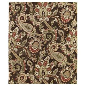 Helena Collection Odyusseus Chocolate Rectangular: 5 Ft. x 7 Ft. 9 In. Rug