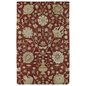 Helena Red Hand-Tufted 2Ft. 6In x 12Ft. Runner Rug