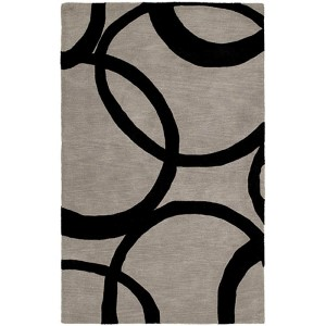 Astronomy Gamma Graphite Rectangular: 5 Ft. x 7 Ft. 9 In. Rug