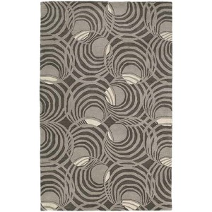 Astronomy Lunar Graphite Rectangular: 5 Ft. x 7 Ft. 9 In. Rug