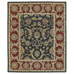 Solomon King David Graphite Rectangular: 5 Ft. x 7 Ft. 9 In. Rug