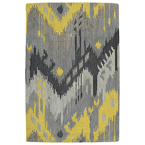 Casual Grey Hand Tufted 2Ft. x 3Ft. Rectangle Rug