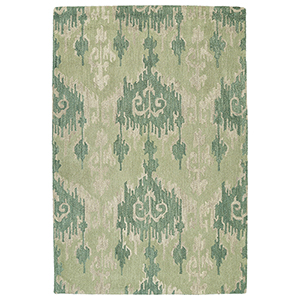 Casual Seafoam Hand Tufted 2Ft. x 3Ft. Rectangle Rug