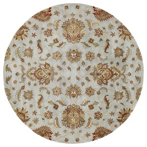 Mystic Europa Pewter Round: 7 Ft. 9 In. Rug