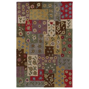 Khazana Ivory and Olive Green Rectangular: 9 Ft. 6 In. x 13 Ft. Rug