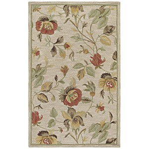 Khazana Linen and Oatmeal Rectangular: 9 Ft. 6 In. x 13 Ft. Rug