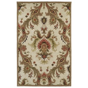Khazana Linen and Beige Rectangular: 9 Ft. 6 In. x 13 Ft. Rug