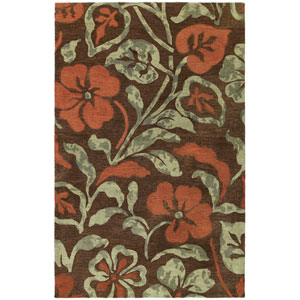 Calais Lily In The Valley Brown Rectangular: 5 Ft. x 7 Ft. 9 In. Rug