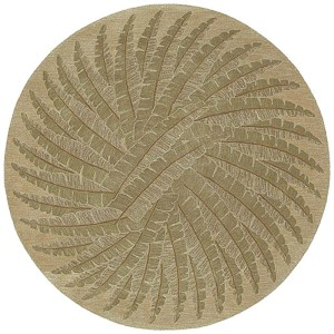 Tara Rounds Gold Round: 11 Ft. 9 In. Rug