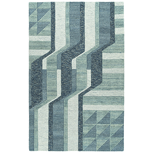 Alzada Blue Hand-Tufted 5Ft. x 7Ft. 9In Rectangle Rug