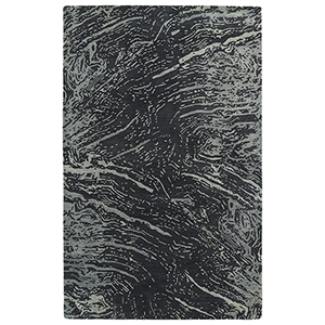 Brushstrokes Charcoal Hand-Tufted 9Ft. 6In x 13Ft. Rectangle Rug