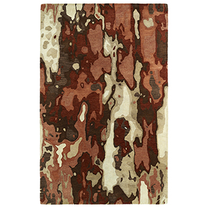 Brushstrokes Rust Hand-Tufted 9Ft. 6In x 13Ft. Rectangle Rug