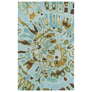 Brushstrokes Teal Hand-Tufted 9Ft. 6In x 13Ft. Rectangle Rug