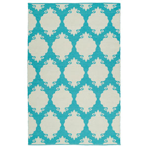 Brisa Turquoise and Ivory Rectangular: 2 Ft x 3 Ft Rug