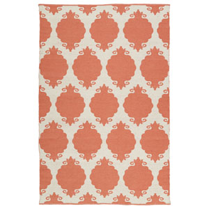Brisa Salmon and Ivory Rectangular: 2 Ft x 3 Ft Rug